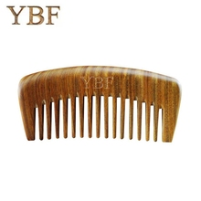 YBF Natural Green sandalwood WOODEN Hair Combs Hello Kitty Profissional Brush Massage Styling Tools Hairbrush Birthday Gift(China)