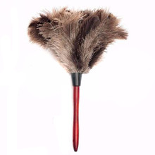 55cm Ostrich Bird Feather Duster Car Dust Cleaner Brush With Wood Handle Anti-static Cleaning Tool