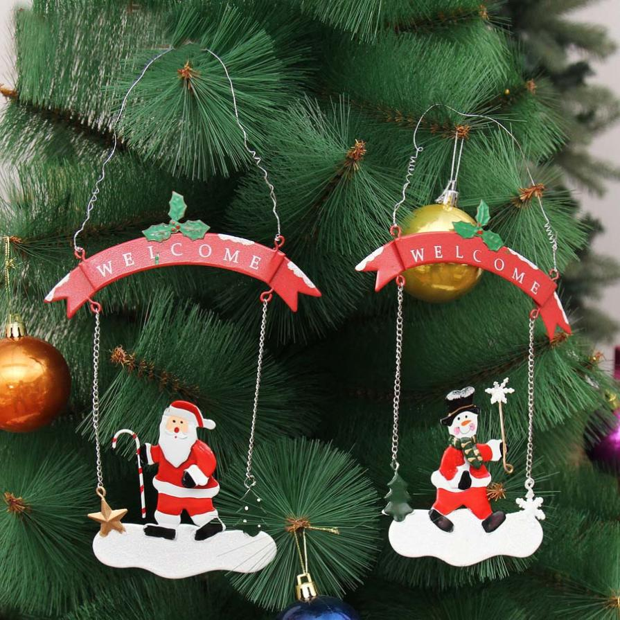 Christmas Santa Snowman Bauble Xmas Tree Party Hanging Decoration Ornament Gifts christmas decorations for home C3088