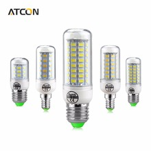 1x SMART IC Chip Control Power longer Life Span 24 36 48 56 69 72 81 89 LEDs E27 E14 LED lamp SMD5730 220V LED Corn Bulb light