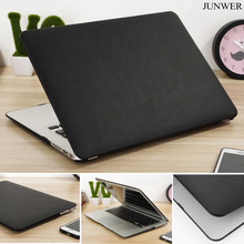 JUNWER PU Leather Case For Apple mac book Air 11.6 12 13.3 Pro Retina 13 15 laptop bag Cover For Macbook pro 13 with Touch bar(China)