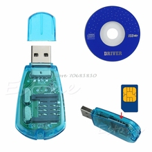 USB Cellphone SIM Card Standard Reader Copy Cloner Writer SMS Backup -R179 Drop Shipping(China)