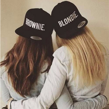 2017 BLONDIE BROWNIE alphabet embroidery cap men's women couple hat Snapback cap hip hop hat girlfriend best gift fast delivery