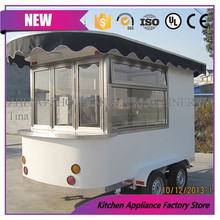 Best sale ice cream food cart Mobile business commercial truck for snack food with free shipping(China)