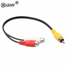 ONLENY Practical Audio Video Cable RCA Splitter RCA Male Connectors to 2RCA Female Stereo Plug Adapter Audio Cable Cord