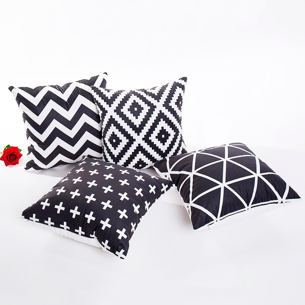 EP/_ Black And White Geometry Pillow Case Sofa Car Throw Cushion Cover Decor Fash