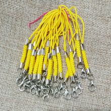 Light Yellow lariat Lanyard mobile case straps lobster swivel jump rings bag tassel Charms snap jewelry diy accessories parts