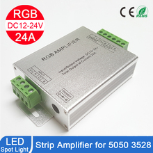 LINYEE RGB LED Amplifier DC12-24V 12A 24A 30A 4Channel Output 3528 5050 LED Strip Power Repeater Console Controller