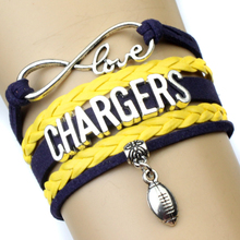 Infinity Love San Diego Chargers Team Bracelet Best Gift for Sports Fans Football Fans Custom Drop Shipping