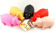 5pcs/lot Pet Rubber Sound Toys Screams Pig Dog Toy Tricky Decompression Vent Toy 6 color S/L Free Shipping