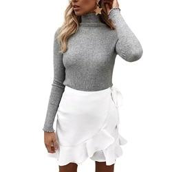 Женские зимние вязаные свитера-водолазки с длинным рукавом