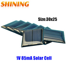 20pcs 1V 80mA Toys DIY Mini Solar Module Panel Solar Cells Solar 30*25*2.8mm PV Module for Batteries DIY Kit