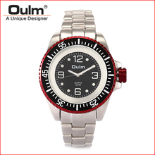 Oulm brand 50mm quartz PC21 movt men watch 3ATM water resistant factory direct sale model HT3916(China)