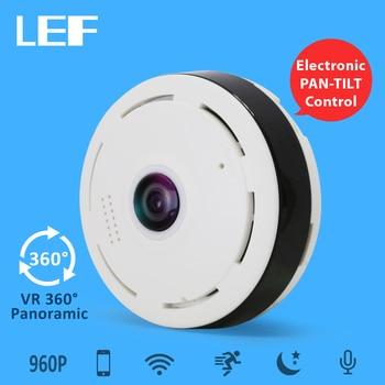 LEF 960P WIFI Camera 360 Degree Fisheye Mini Wireless IP Camera Home Security Surveillance CCTV Camera
