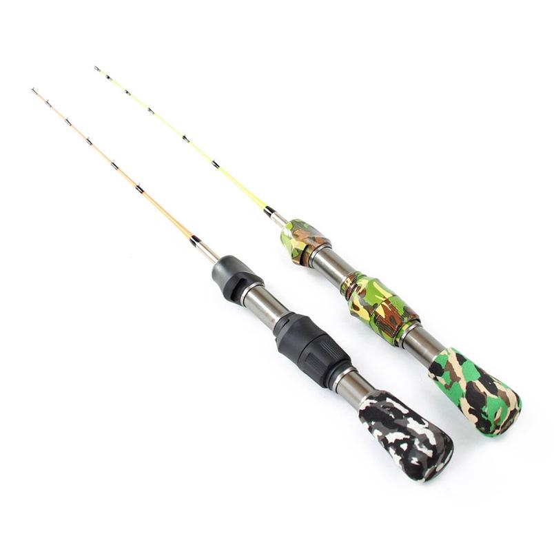 RoseWood 2-Piece Camouflage Ice Fishing Rod Travel Spinning Fishing Rod Portable Winter Short Fishing Rod (14)
