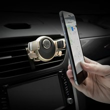 Baseus Universal Car Phone Holder Mechanical Era Auto Clip 360 Rotation Cold Air Vent Car Mount for iPhone 7 6S Plus 5C 57-84mm