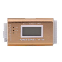 Digital LCD Power Supply Tester Support PC 20/24 Pin 4 PSU ATX BTX ITX SATA HDD Interface Gold(China)