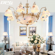 Tiffany chandelier lighting style antique lamp sconce Gold tiffany light conch glass for bedroom living room ceiling fixtures(China)