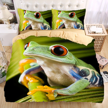 Frog 3D Bedding Set Monocerus Print Duvet cover set Twin queen king Beautiful pattern Real effect lifelike bedclothes(China)