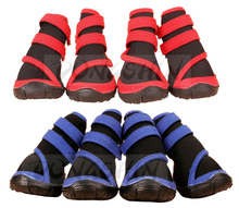 4pcs Waterproof Big Dog Rain Shoes XXS - XXL Large Size Soft Outdoor Anti-slip Sneakers Pet Shoes for Large Dogs