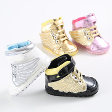 ROMIRUS PU Newborn Baby First Walkers Shoe Infant Child Pony Wing Toddler Boots Boy Girl Angel Wings Booties Shoes