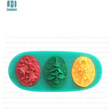1pcs 3D Christmas tree bell Silicone Cake Mold Bakeware Decorating Gum Paste Fondant Clay Soap Mold(China)