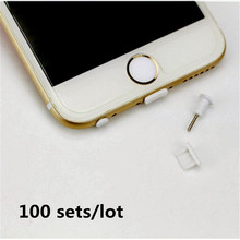 100 sets/lot Mini 3.5mm Audio Port  Headphone + Charger USB Anti Dust Plug Charge Port Plug for iPhone Samsung Earphone Jack
