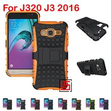 Armor Rugged Hybrid Hard PC TPU ShockProof Phone Case capinha Cover For Samsung Samsuns Galaxy Gelaksi Galaksi J3 J320 2016(China)
