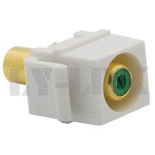 new style keystone RCA video component connector with green color(China)