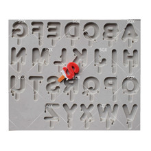 Chocolate Access Christmas  Cake Silicone Mold  DIY English Ice Letters Style Cake Baking ToolsSQ16341