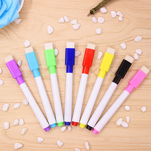 5pcs Whiteboard Marker Magnetic Whiteboard Pen Dry Erase White Board Markers Magnet Pens Built In Eraser Office School Supplies
