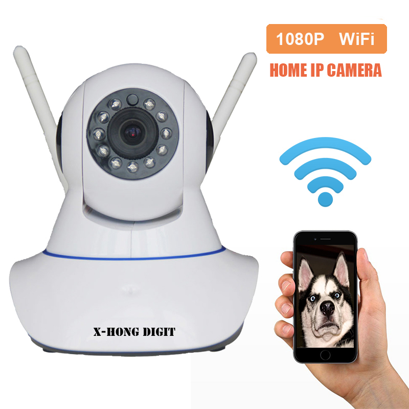 1080P Full HD Home Security IP Camera WiFi 2.4G Two Way Audio Motion Detection Two Antenna Night Vision Support SD Card Yoosee<br>
