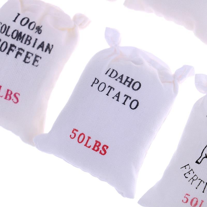 1:12 Dollhouse Miniature Cucina Cibo 6 sacchetti di farina zucchero sale di patate