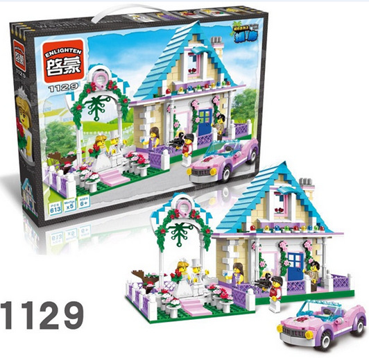model building kits compatible with lego city villa 619 3D blocks Educational model &amp; building toys hobbies for children<br>