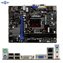 original Used Desktop motherboard For msi H61M-P20 G3 H61M support LGA 1155 2*DDR3 support 16G 4*SATA2 USB2.0 Micro ATX