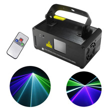 AUCD Mini Remote Sound 8 CH DMX Green Blue Cyan GBC Laser DPSS Stage Lighting Scanner DJ Party Show Projector Light DM-GBC200(China)