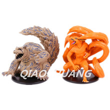 NARUTO Kyuubi Kurama Shuukaku PVC Action Figures Collectible Model Toys 2pcs/set 11cm OPP Bag W40(China)