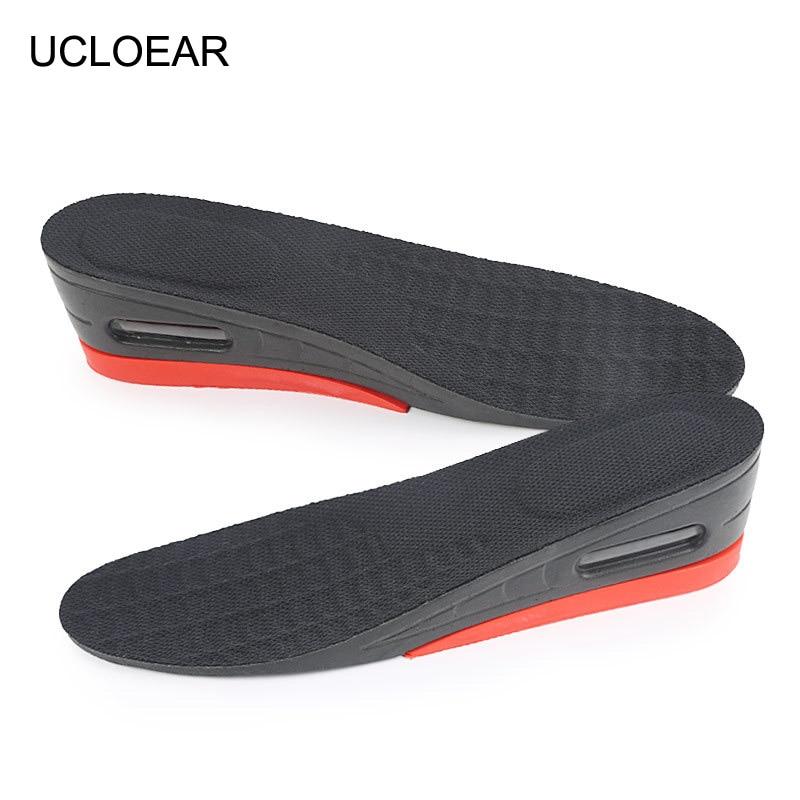 Unisex Men Insole Full Pad Air Cushion Heel Insert Increase Taller Height Lift H