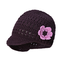 Pettigirl 2017 Cool Baby Hats Handmade Weaving Caps With Flower Decoration Toddler Autumn Winter Kids Clothing KC20101-02(China)