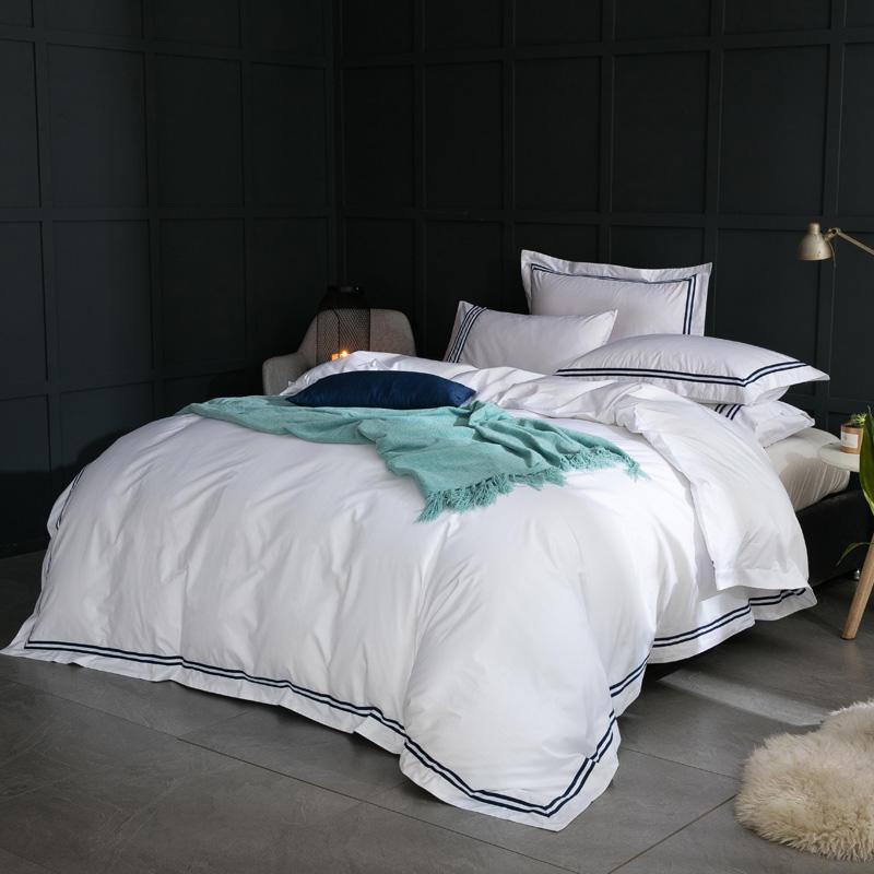 Großhandel Luxus Ägyptische Coon Queen King Size Bettwäsche Set Weiß ...