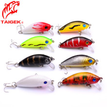 3.5g 5cm Fishing Lure Hard Bait Deep Diver Tight Wobble Jerkbait Epoxy Coating Black Nickel Treble Hooks Crankbait FA-201