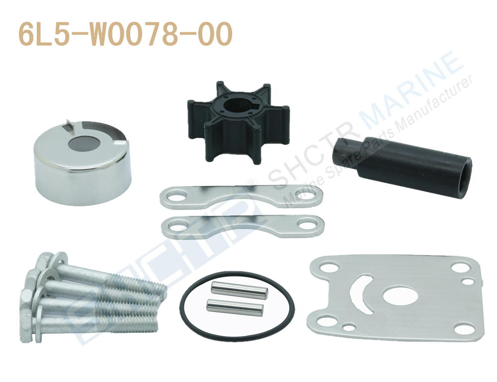 25-30HP Outboard 689-W0078-A6-00 95611M New Yamaha Water Pump Impeller Kit for