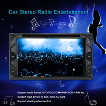 "6.2"" Universal Double 2 Din Car DVD player Car Autoradio Video/Mutimedia MP5/4/3 Player Car Stereo audio player with display(China)"