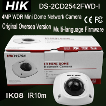 Hik DS-2CD2542FWD-I 4MP WDR Mini Dome IP Camera IK08 H.264+ IR10m Full HD1080P 3-axis adjustment support Micro SD card upto 128G