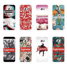 Fashion brand Supreme design phone case plastic transparent cover For Samsung Galaxy S7 S6 edge S5 S4 S3 i9500 i9600