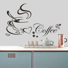 New Arrival DIY Art Wall Sticker Removable Kitchen Decor Creative Coffee Wall Stickers Used in Coffee Shop Kitchen Decoration