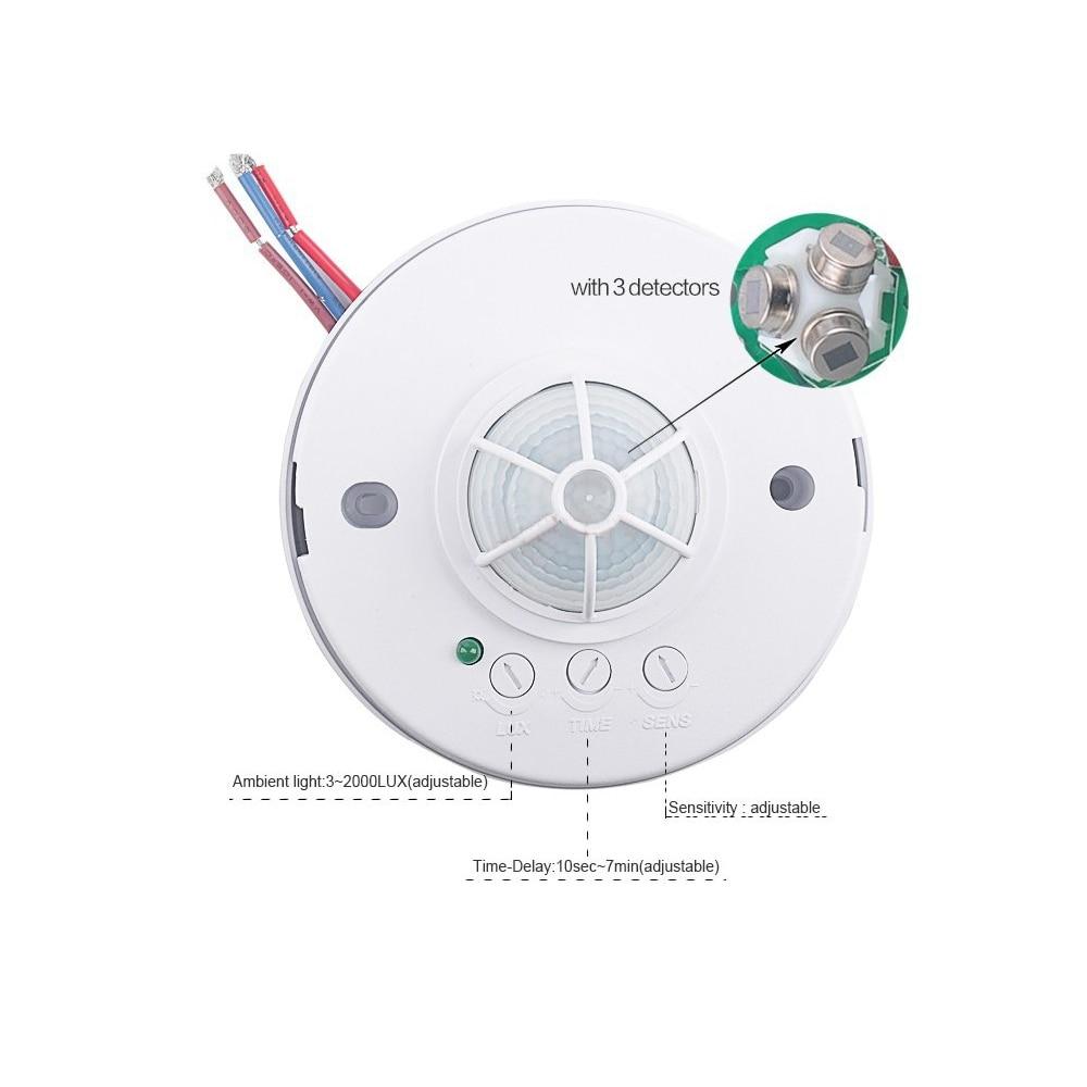 220V PIR Motion Sensor Switch,Passive Infrared Detector,High Sensitivety Infrared Sensor Light Switch (2pcs ET036B)<br><br>Aliexpress