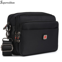Soperwillton Men's Bag Male Bag Brand Bag Men Oxford Messenger Bag Crossbody Man Famous Brand Design Black Bolsa Masculina #1053(China)