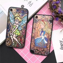 Cartoon Beautiful Princess Phone Cove For iphone 7 6 5s Case For iphone 7 6s 6 Plus 5 New Alice Snow White Mermaid Elf Patterns