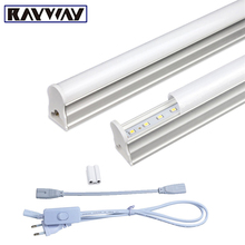 2PCS/Set T5 Led Light Tube AC85-265V 2*5W Wall Lamps 1ft LED T5 Tube Fluorescent Lamp Lights + Connect Cord + Power Switch Cable